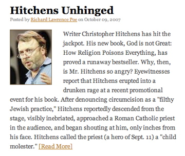 TakiMag Hitchens Story