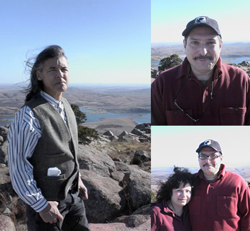 David Yeagley, Richard and Marie Poe atop Mount Scott