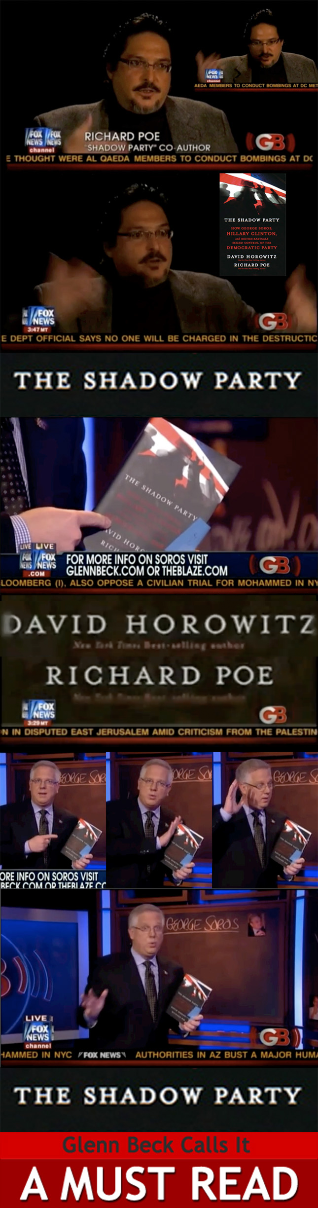 Montage of Shadow Party Co-Author Richard Poe on Glenn Beck Program, November 9, 2010